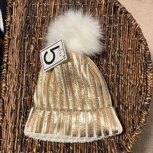 Cute Golden Winter Hat